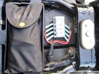 xj650 blog Yamaha fuse box complete next to tool caddy